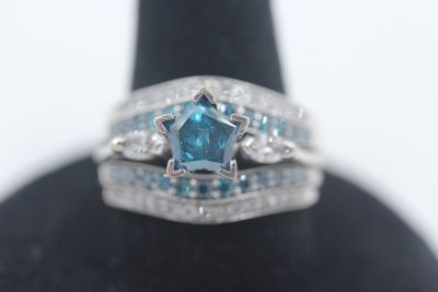 Blue Star Diamond ring
