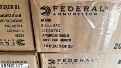 For Sale/Trade: FEDERAL 6.8 SPC ammo