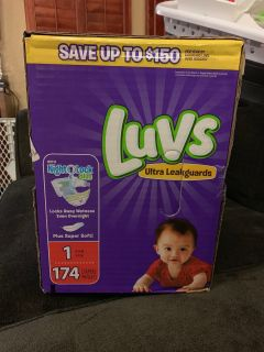 Luvs diapers size 1 174 count asking $15