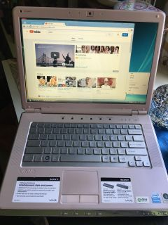 SONY VAIO Pink Pearl Laptop