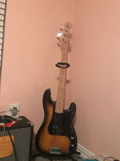 Fender amp and electric bass guitar brand new