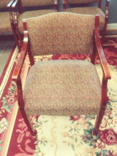 $20ea - 7 Guest Side Chair. Multi-Color w/ Burg Bases. Beautiful. $125 for all!