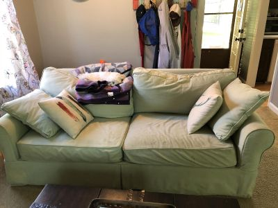 Couch with sleeper and loveseat