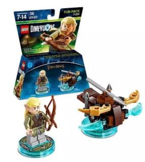 "LEGO DIMENSIONS FUN PACK #71219 ""LORD OF THE RINGS LEGOLAS"" & ""ARROW LAUNCHER"""