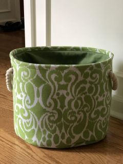 Cool green fabric tote