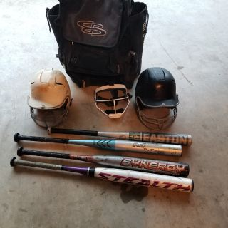 Softball equipment $10