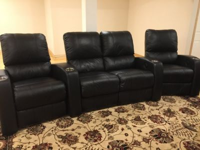 4 Leather Home Theater Seats for Sale!!!!