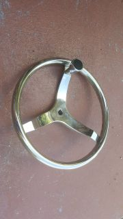 "13"" SS steering wheel with suicide knob"