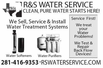 Backflow Testing/ Repairs. RS Water Svc 281-416-9353