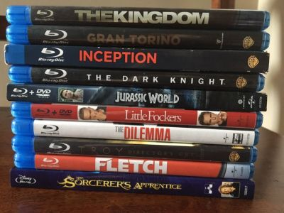 EUC Blu-Rays - 3$ each or any 5 Movies for 10$ TOTAL
