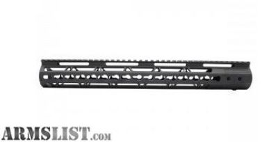 "For Sale: New AR15 15"" Ultra Slim Keymod Handguard W/ Steel Barrel Nut"