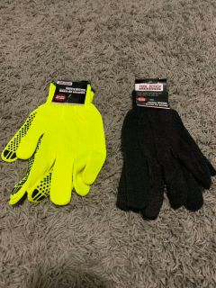 New 2 pair of work gloves.