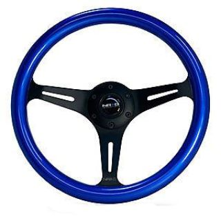 Find NRG Innovations ST-015BK-BL Painted Wood Steering Wheel Diameter: 12.99 (330mm) motorcycle in Delaware, Ohio, United States, for US $149.99