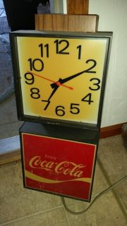 Coca-Cola Clock electric lighted