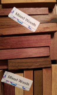 Mixed Woods Pen Blanks (100+Pcs) SET 26 REDUCED PRICE