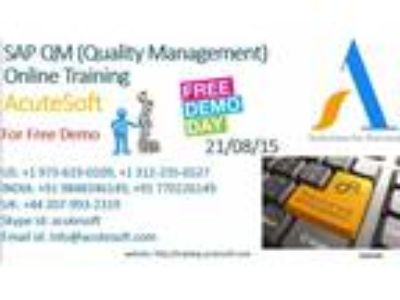 SAP QM (Quality Management) Online Training by IT industry experienced pro