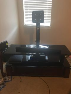 Tv stand with universal mount