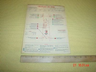 Buy Crosley CB 1942 USED Chassis Lubrication Points Chart motorcycle in Bethlehem, Pennsylvania, United States