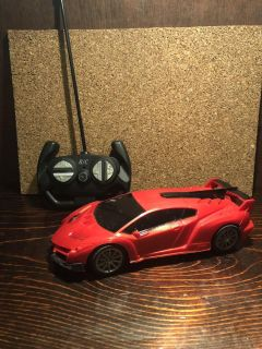 Red RC Car with headlights