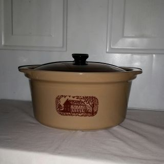 """Country cooker made for Amana Radar Ranger oven by Western Stoneware. 10 """" diameter 5.5""""tall. $15"""