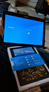 Lenovo 10 android tablet with case and stylus