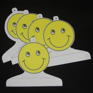 Children's Boutique Garment Retail Display Hangers Yellow Smiley Face 5 Handmade Cardboard