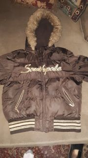 Girl's size Large Brown Southpole Winter Hooded Jacket