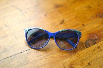 $15 Blue Peacock Sunglasses