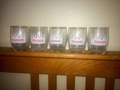 Vintage beer pitchers/glass (Hamm's)