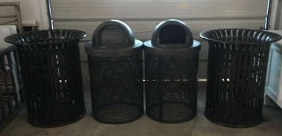 Heavy Duty Outdoor Steel Trash Can Buckets Barrels Used