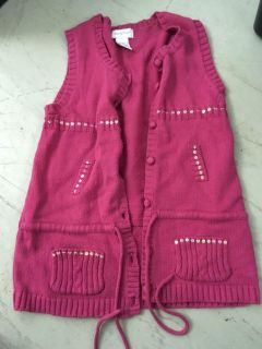 Knit vest with bling girls size 6