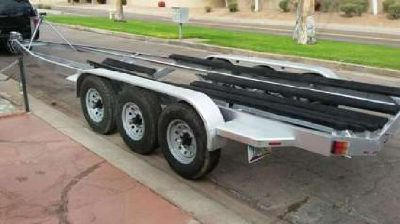 Tri Axel Boat Trailer 8 Log 7000lb Each Axle Total of 35feet