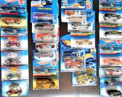 Hot Wheels, Lot of 50. 1990's - 2000's. Purple Passion-GT 40-Trucks-Slideout-Fir