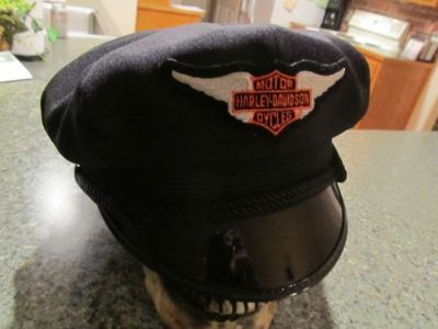 Buy VINTAGE STYLE BIKER ROAD CAPTAIN'S HAT/CAP - HARLEY BAR & SHIELD WING PATCH !! motorcycle in Livingston, Texas, United States, for US $148.00