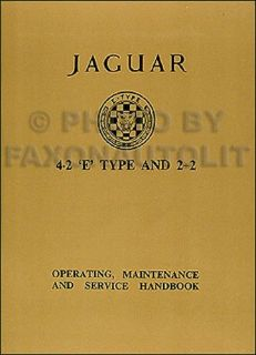Purchase 1965 1966 1967 Jaguar XKE Owners Manual 4.2 XK E Type Operating Handbook Guide motorcycle in Riverside, California, United States, for US $34.00