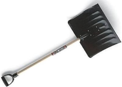 New snow shovel and new cleaning supplies