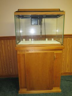 20 gallon aquarium plus base cabinet