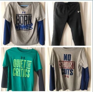 Under armour Size 5 shirts and 6 pants
