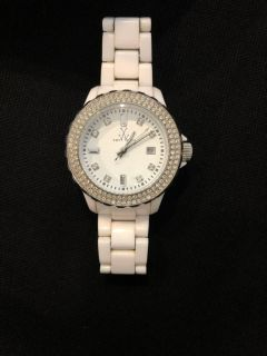 Toywatch- White Plasteramic Crystal Ladies Watch.