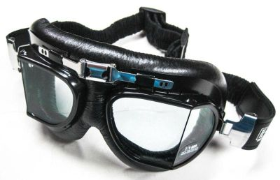 Purchase Emgo 'Stadium' Roadhawk Black Vinyl Riding Goggles vintage style racing motorcycle in Canyon Country, California, US, for US $28.00