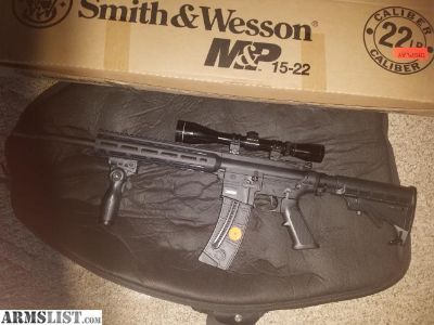 For Sale: S&W M&P 15-22 WITH LEOPOLD
