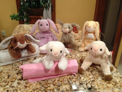 6 Beanie Babies Easter Collection