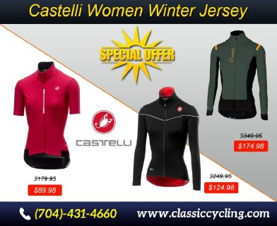 Amazing Offer on Women's Castelli Winter Jersey |Classic Cycling