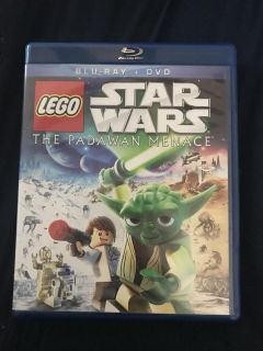 LEGO Star Wars blue ray and dvd combo