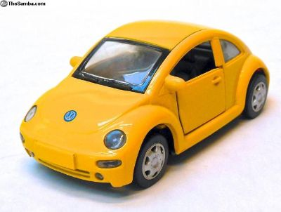 Vintage VW New Beetle Model Car Pullback Toy Car