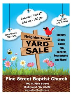 Community Yard Sale and Free Music Gleaning - Oregon Hill