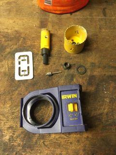 Deadbolt install kit