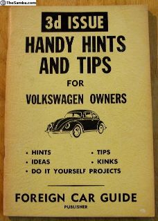 1961 3d Handy Hints and Tips for Owners