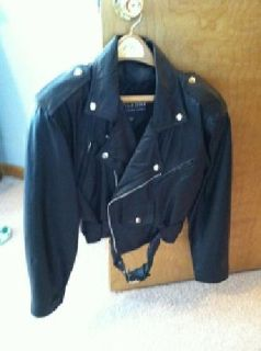 Wilsons Black Leather Women's Biker Jacket