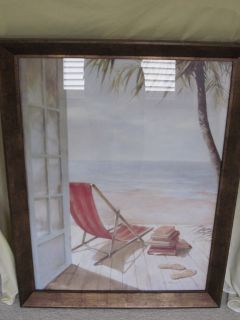 Beach Chair Framed Pictures